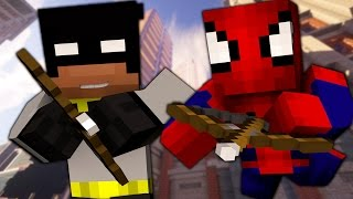 Minecraft: Batman and Spiderman Archery Simulator! Turfwars