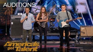 we three family band performs song tribute for mother with cancer americas got talent 2018