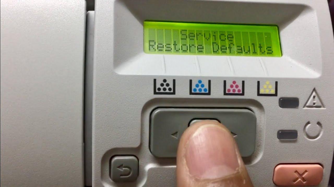 restore the hp color laserjet cp2025 | factory default settings