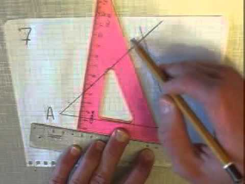 Как разделить отрезок на равные части с помощью циркуля