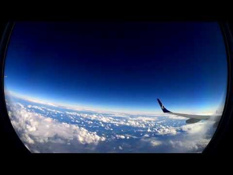 1 hour | Flight from Warsaw (WAW) to Brussels (BRU) by Lot - Part II