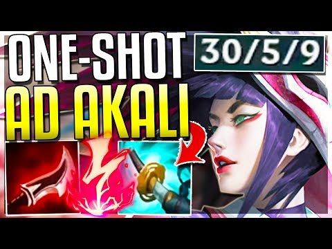 AD ONE-SHOT REWORKED AKALI IS 100% OP WTF IS THIS DMG? Akali Rework Gameplay  League of Legends