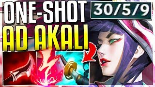 AD ONE-SHOT REWORKED AKALI IS 100% OP!! WTF IS THIS DMG?! Akali Rework Gameplay   League of Legends