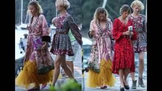 Итальянские папарацци сняли беременную Собчак в Портофино