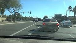 drive to Chandler Gilbert college library; Arizona