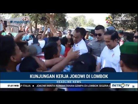 Warga Senang Ketemu Jokowi Bagikan Buku dan Baju di Lombok