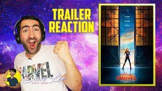 CAPTAIN MARVEL - Official Trailer Reaction