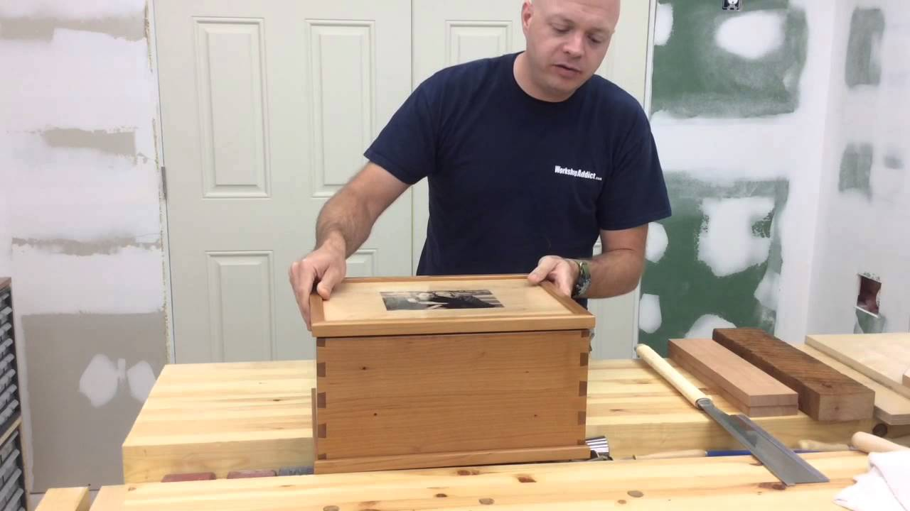 Wedding Card Box With Handcut Dovetails - YouTube