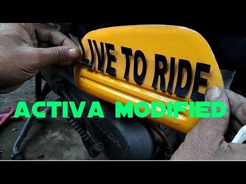Modified activa sticker - born to drive 22