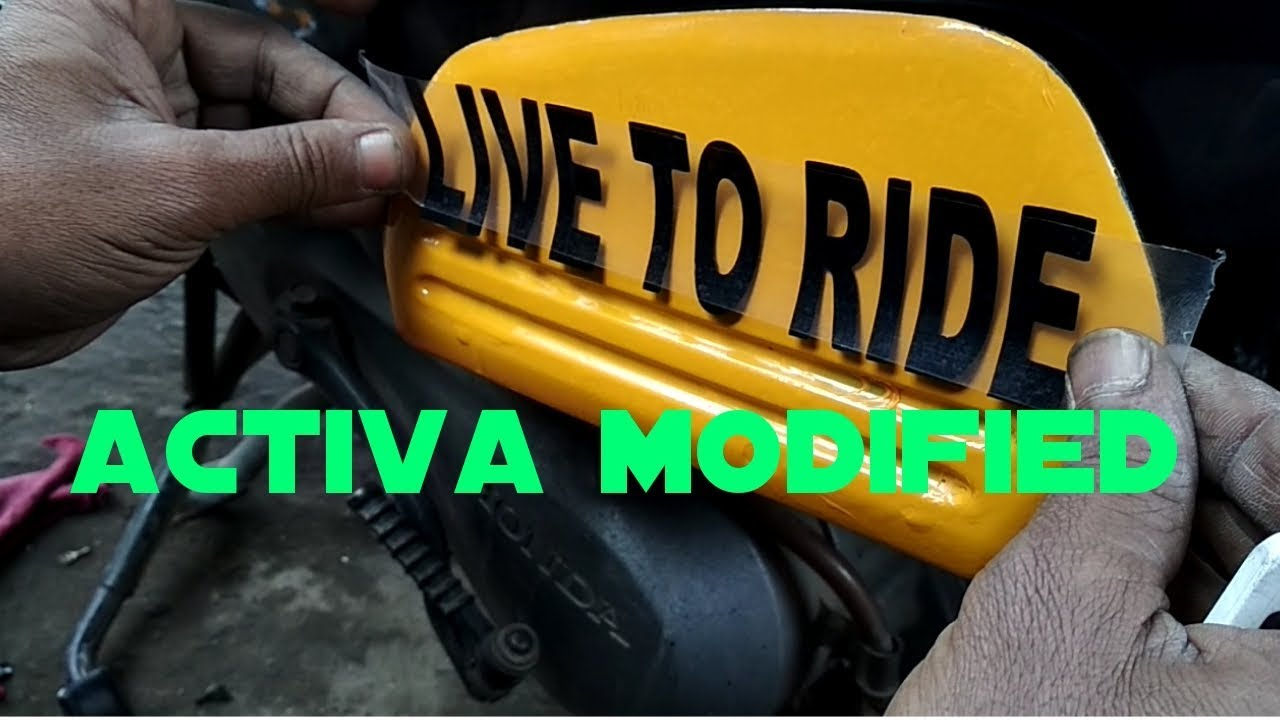 Modified Activa Sticker