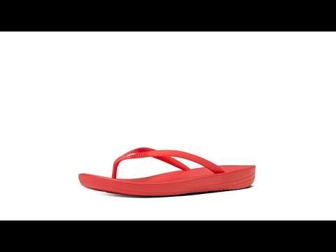 5cd6ac8895fe FitFlop iQushion Ergonomic Flip Flop Sandal - YouTube