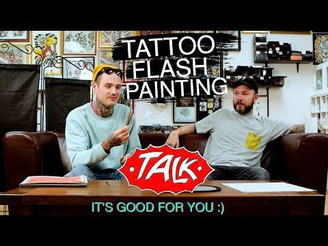 Tattoo Flash Painting - Talk
