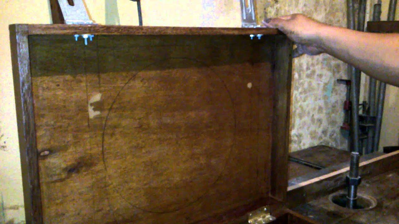caja de madera portatil simple para herramienta