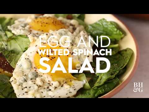 Egg and Wilted Spinach Salad | Cooking: How-To | Better Homes & Gardens