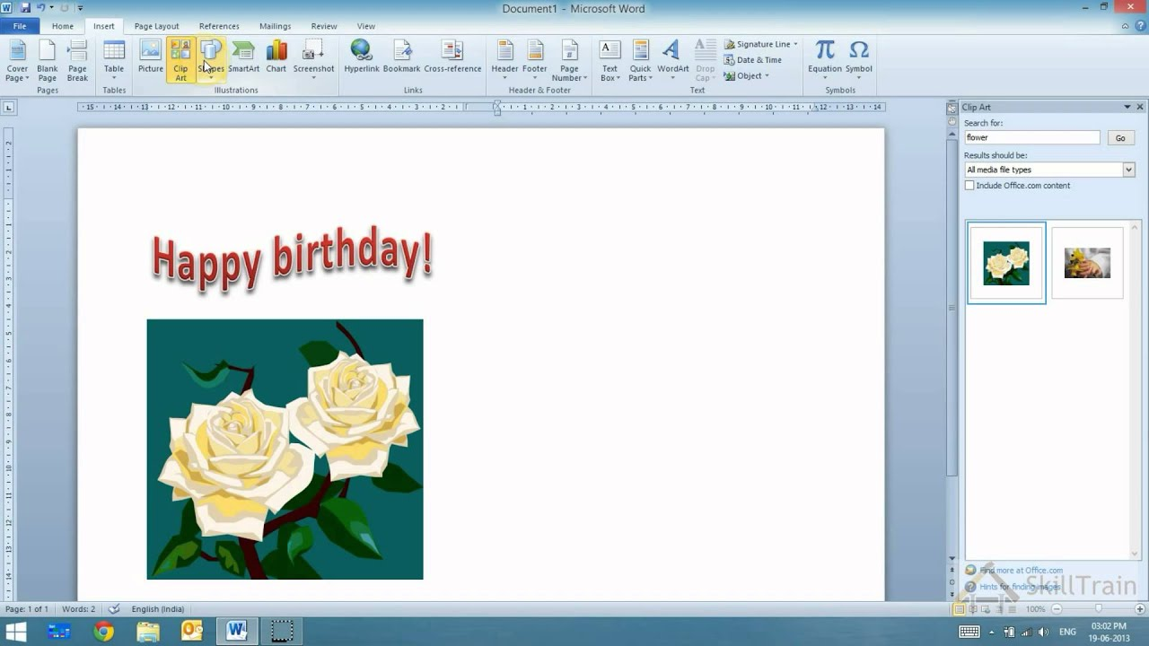 Working With Word Art In Ms Word Hindi Youtube
