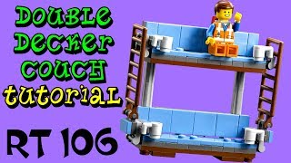 How to Build LEGO Double Decker Couch Round Table 106