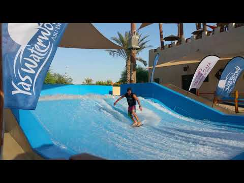 Sean Silveira Dubai Surf Barrel FlowRider FLOW Barrel #Shorts and Fails Yas Waterworld UAE Abu Dhabi