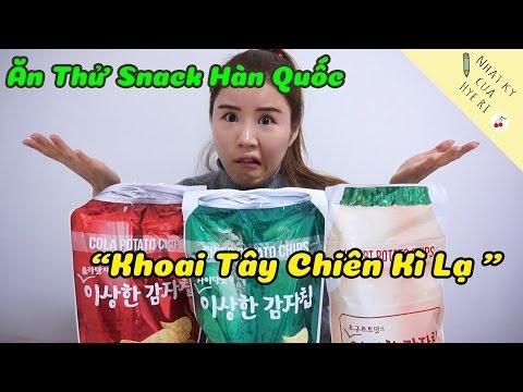 """Ăn thử Snack Hàn Quốc """"Khoai Tây Chiên Kì Lạ """""""