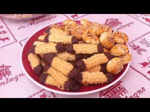 جوج أشكال حلويات سهلة أو دواز أتاي هشيش وفقاص صغير حلو مقرمش وبنين