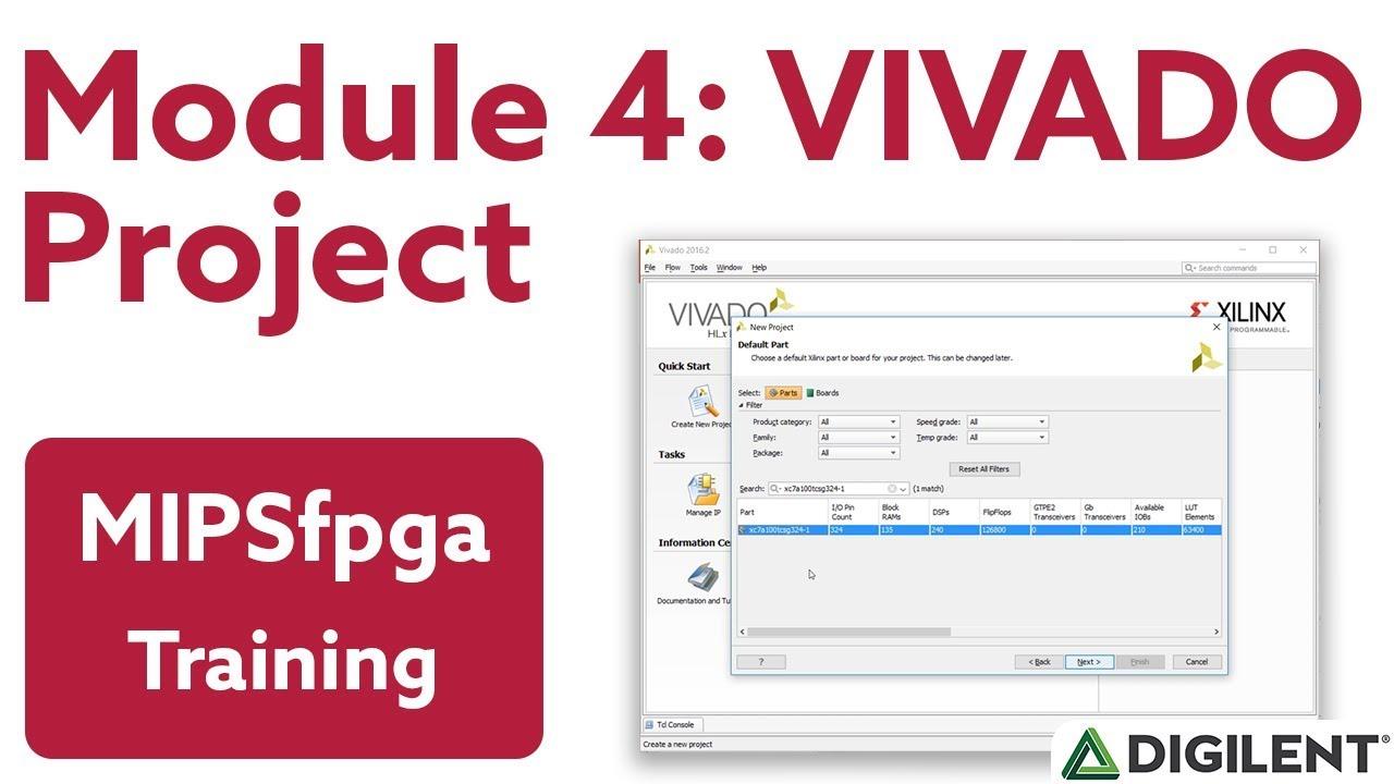 MIPSfpga - Module 4: Creating a MIPSfpga Vivado Project