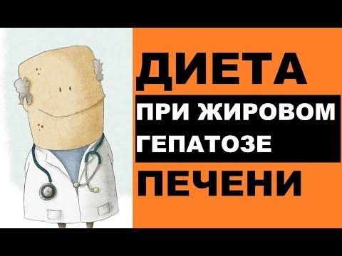 Диета при жировом гепатозе (стеатозе) печени