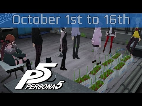 Persona 5 - October 1st: Saturday to October 16th: Sunday Walkthrough [HD 1080P]