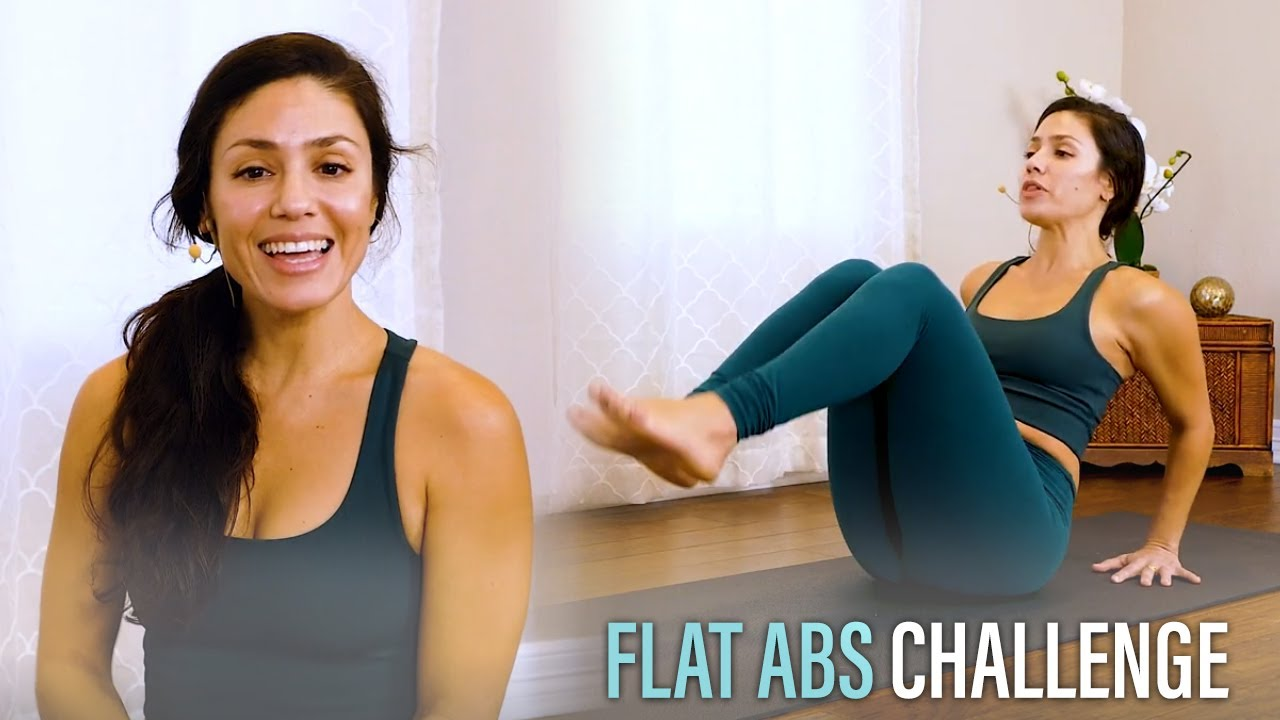 10 Min Flat Abs Challenge with Eliz | Low Belly, Fat Burning Workout, Cardio Exercises