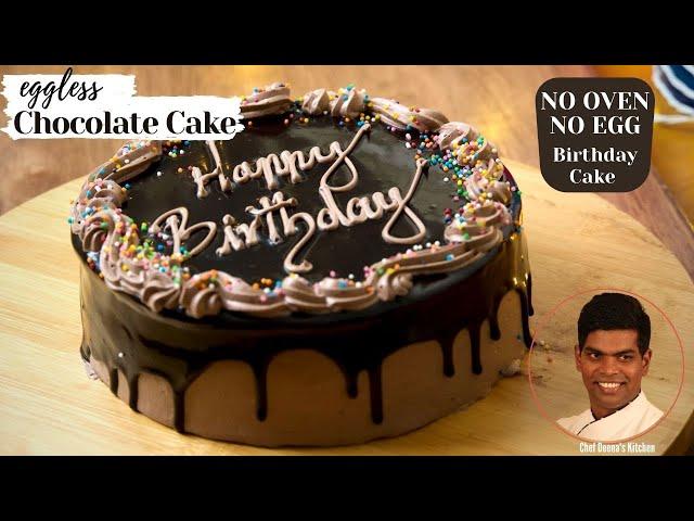 Chocolate Birthday Cake Recipe In Tamil | How to Make Birthday Cake | CDK#355 | Chef Deena's Kitchen