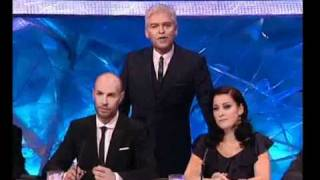 phil hits Jason Gardiner across the head dancing on ice 2009 HQ