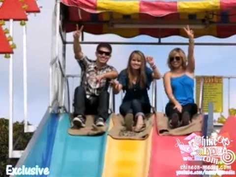 Debby Ryan, Becky Rosso & Jake Go Sliding