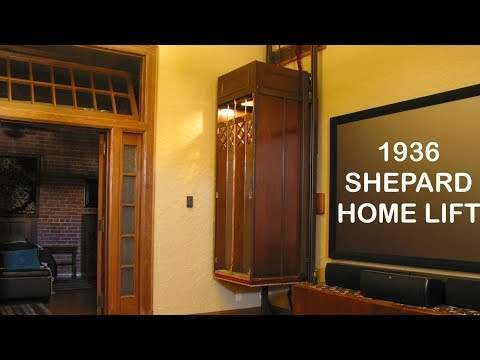 Amazing 1936 Shepard Home Lift elevator in a private residence
