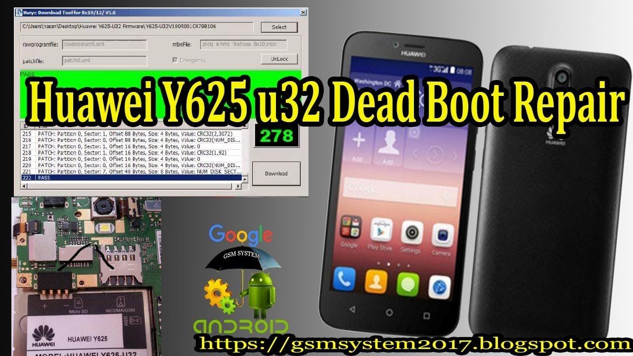 Huawei Y625 u32 Dead Boot Repair