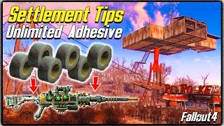 Fallout 4 Settlement Tips 1 - UNLIMITED ADHESIVE FARM Quick Easy Method to Modify Weapons