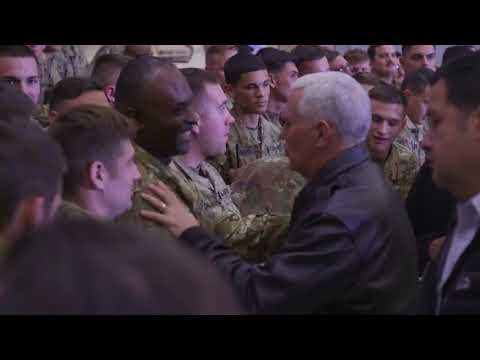 Vice President Mike Pence visits our troops in Afghanistan