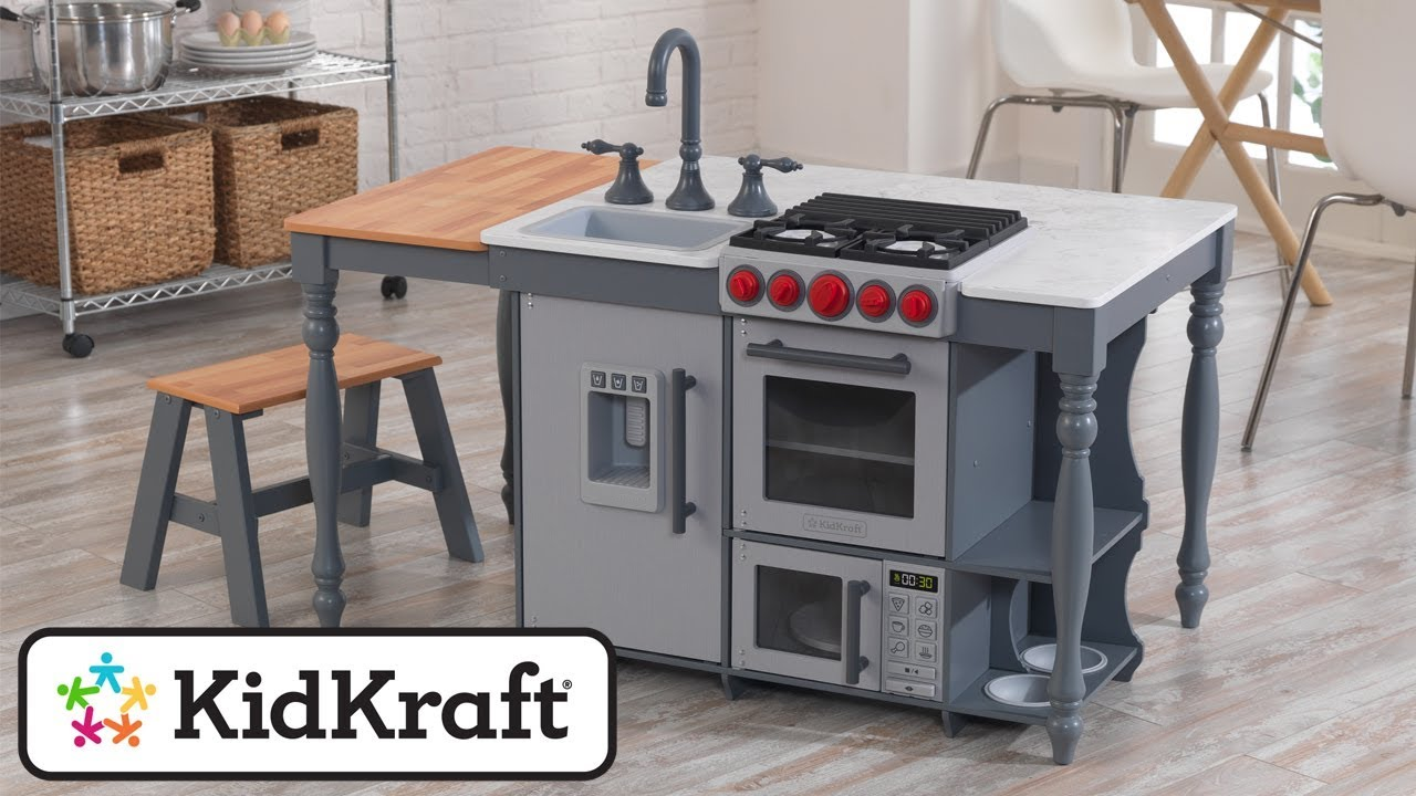 KidKraft Chef's Cook 'N' Create Island Kitchen With EZ Kraft Assembly (3+ Years) | Costco UK