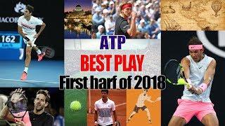 【テニス】衝撃プレーが目白押し!!ATP2018年上半期スーパープレイ集!!【ATP】2018 first half of the best play Collection!!