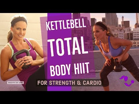 35 Minute Kettlebell Total Body HIIT Workout For Strength & Cardio