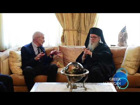 THE MAYOR OF THESSALONIKI IOANNIS BOUTARIS VISIT TO H.E.  ARCHBISHOP DEMETRIOS OF AMERICA.