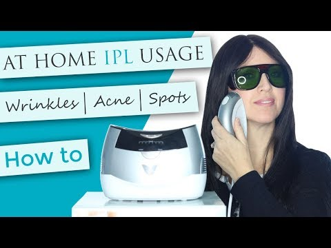 At Home IPL Unit | How To Demo | Wrinkle Rejuvenation | Excess Hair Removal | Acne Treatment