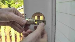 How to Replace a Deadbolt, detailed instructions
