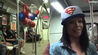 Человек Паук в метро с девушкой жесткое порно 18 brazzerscom