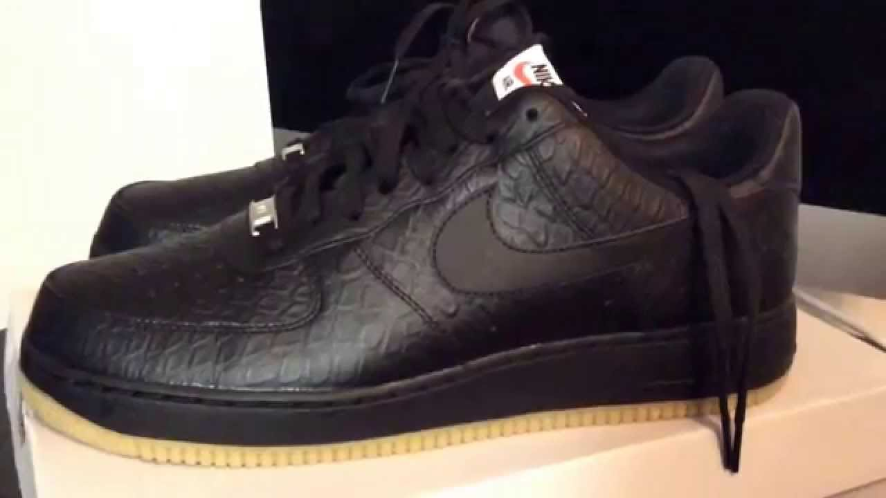 c33cc3a6af23 SNKRLOG  34  NIKE AIR FORCE 1  07 LV8 BLACK ON BLACK GUM BOTTOMS ...