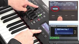 """""""Using an External Connected MIDI Device or Computer"""" Roland RD-2000 #15"""