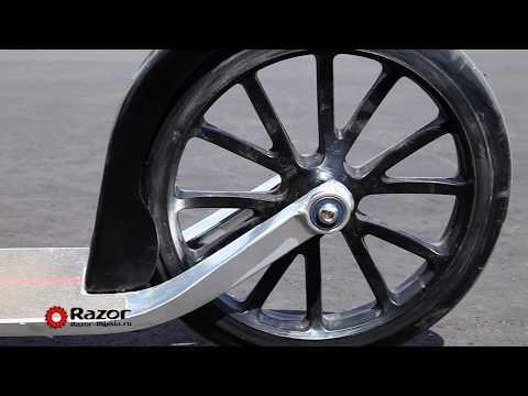 Обзор самоката Razor A6. Городской складной самокат для взрослых и детей с большими колесами 254 мм.