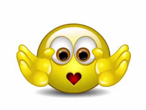 Sending a Kiss Smiley Animated Emoticon
