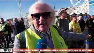 Manifestation des gilets jaunes à Marseille