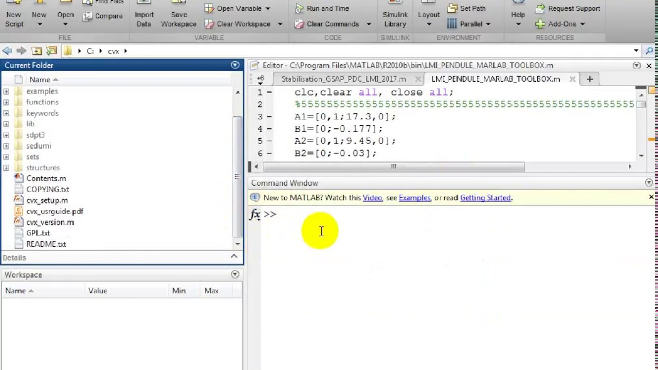 How to install LMI CVX tool in MATLAB