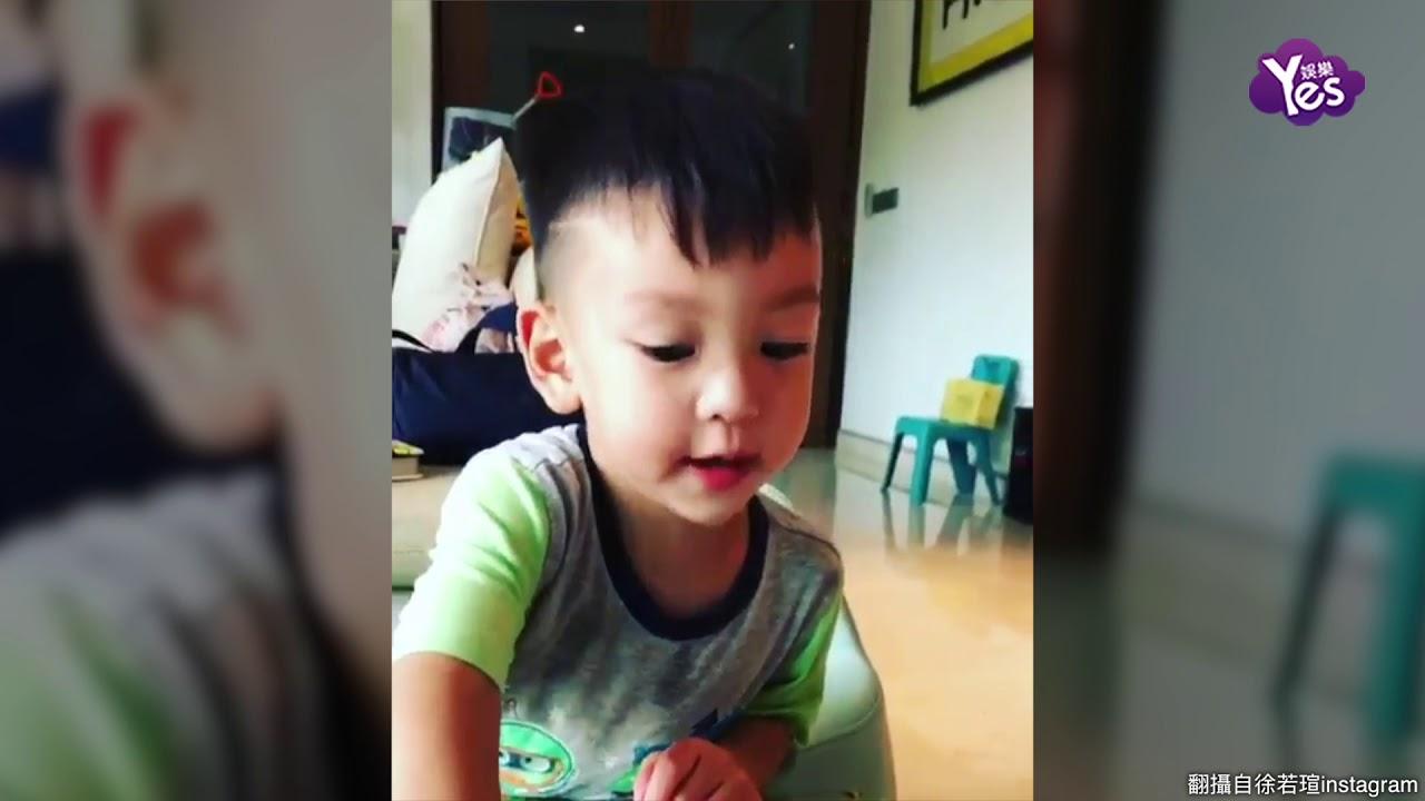 【2年前】徐若瑄兒畫生日卡獻給媽咪 邊說話邊流口水模樣超萌 - YouTube