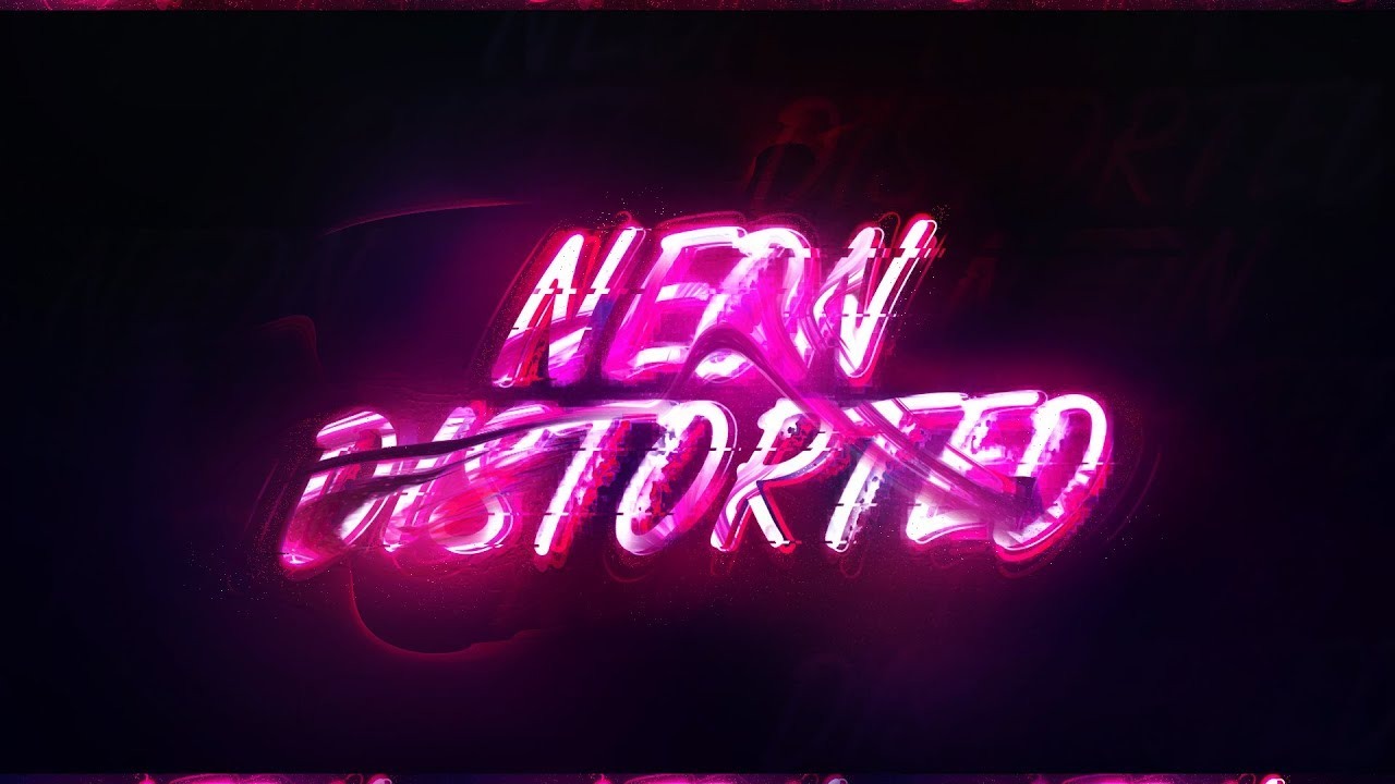 Photoshop Text Effect: Neon Siphon Distortion