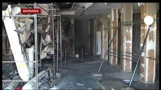Euronews inside Gaddafi's Tripoli base